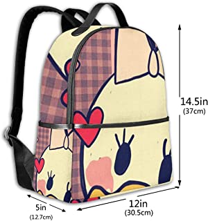 Classic School Backpack Daisy Duck Unisex College Schoolbag Travel Bookbag Black