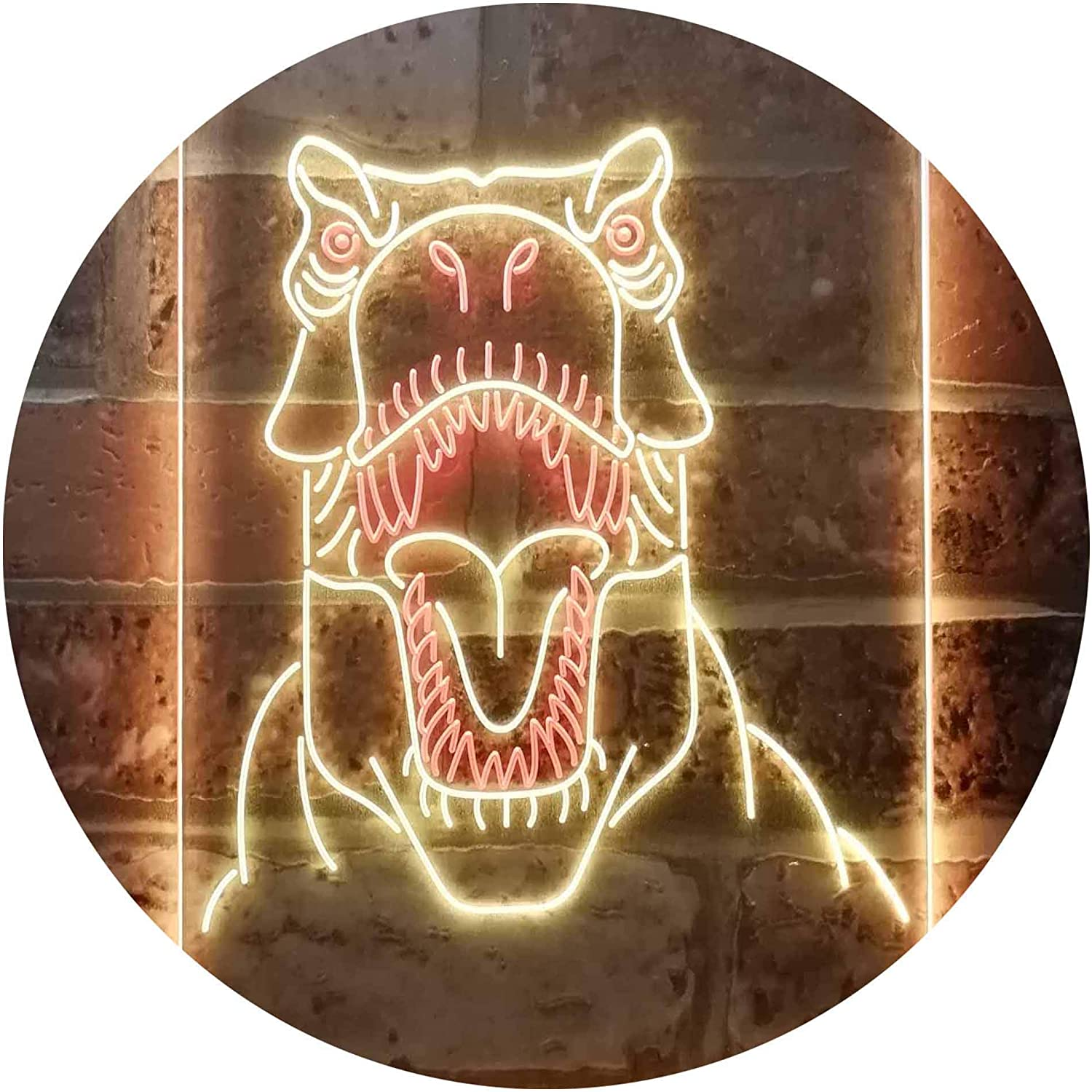 Dinosaur Animal Man Cave Dual Color LED 1 Neon Overseas parallel import regular item Red 25% OFF Sign Yellow