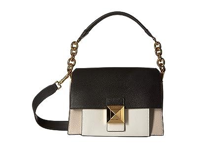 Furla Diva Small Shoulder Bag (Lino/Onyx/Chalk) Shoulder Handbags