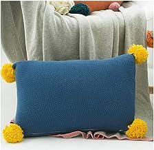 WEIDA Hit The Color Balls Pillow Sofa Cushion Lumbar Pillow Cute Cushion Vehicle (containing Pillow) (Color : Blue)