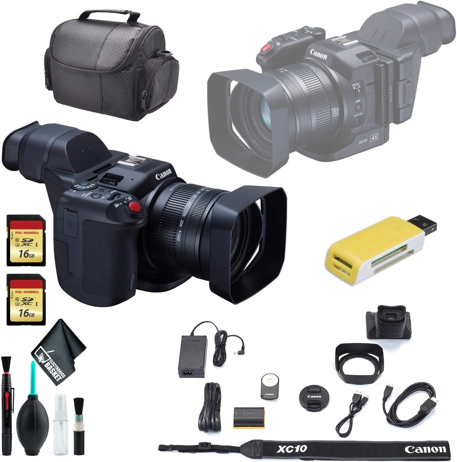 Long Beach Mall Canon XC10 4K Professional Camcorder Clea Carrying San Francisco Mall Soft Case +