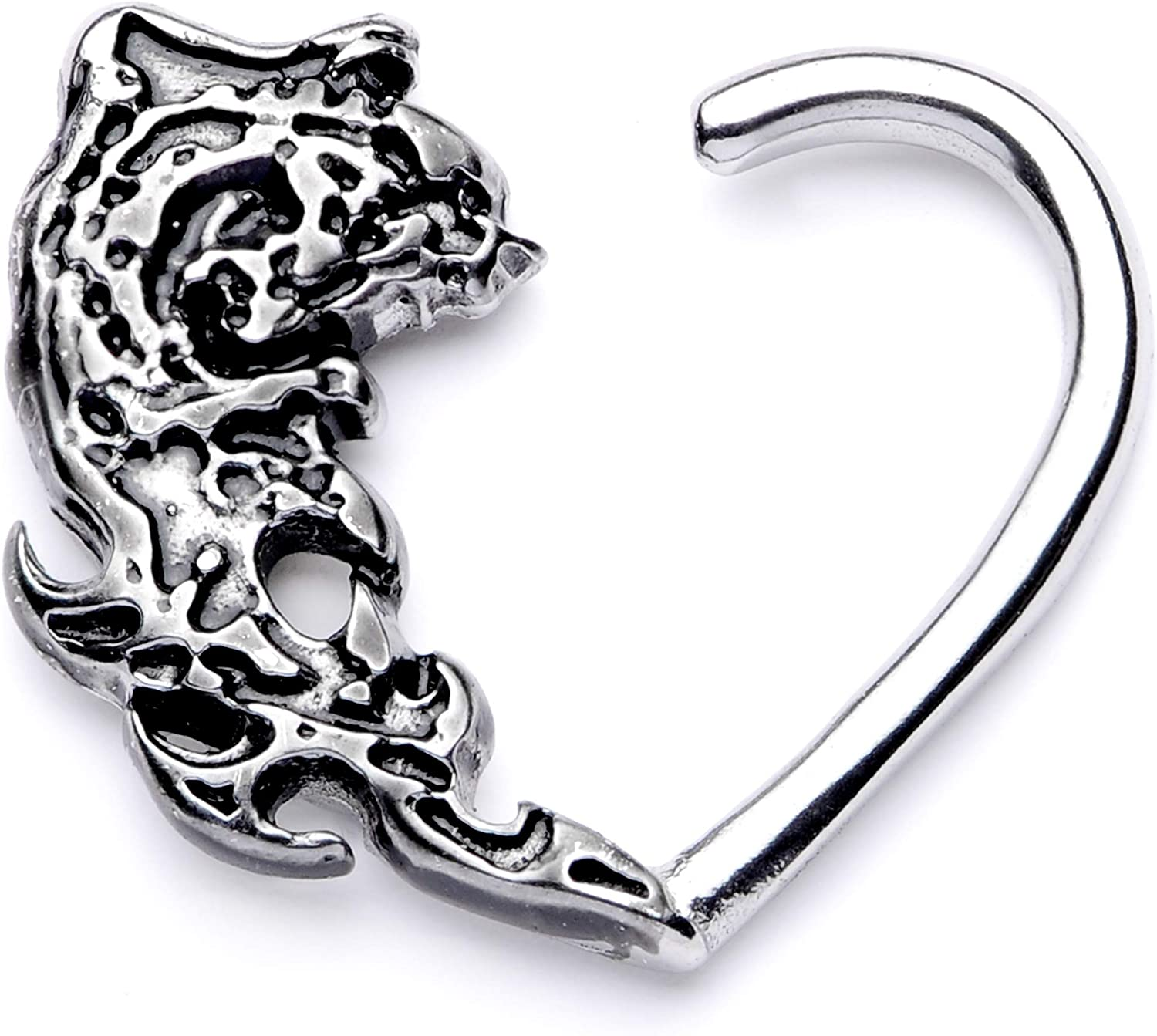 Body Candy 10mm Body Piercing Jewelry Stainless Steel 16G Right Closure Daith Heart Tribal Wave Tragus Earring 3/8