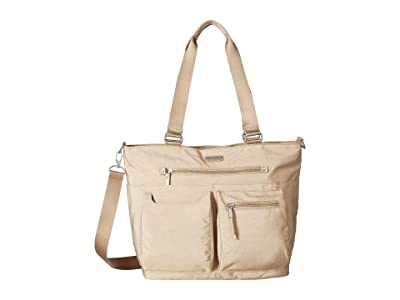 Baggallini New Classic Any Day Tote with RFID Phone Wristlet (Champagne Shimmer) Tote Handbags