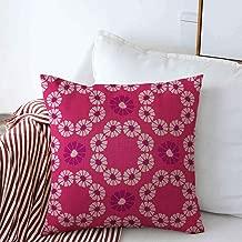 Staropor Pillow Case Endless Blue Allover Folk Daisy Quilt All Over Holiday Nature Colourful Cute Daisies Chain Drawn Farmhouse Decorative Throw Pillows Covers 16