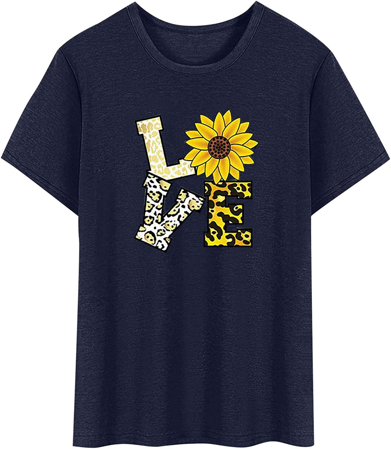 FUNEY Spring new work one after another Womens T Shirts Valentine's Day Graphic F Discount mail order Summer Cute Tees