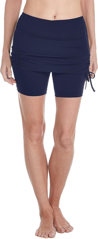 Coolibar UPF 50+ Women's Shorebreak Skirted Swim Shorts - Sun Protective