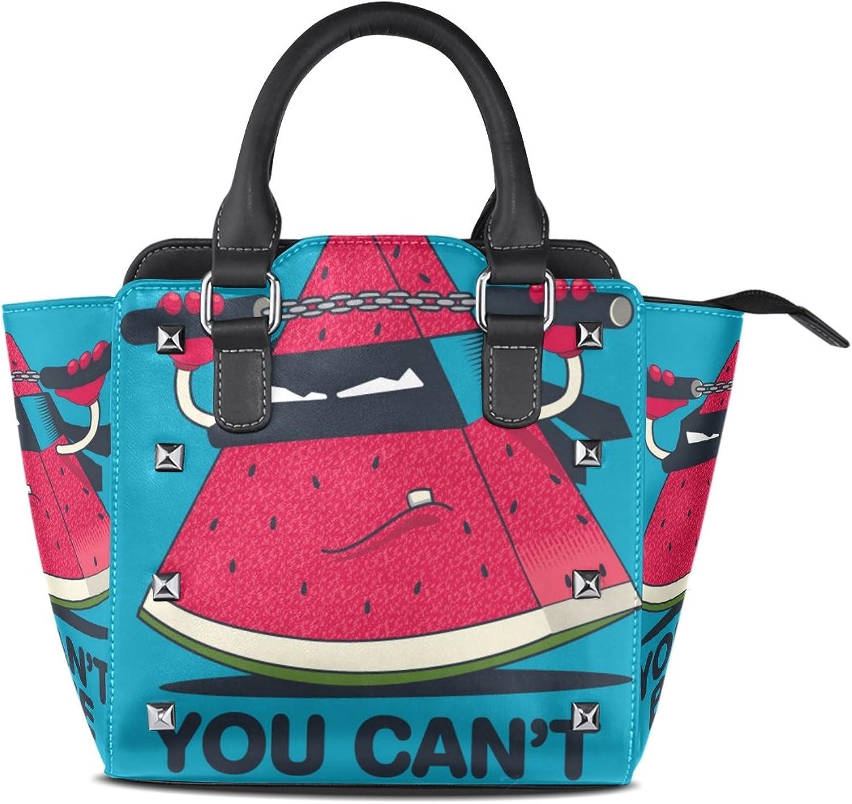My Little Nest Women's Top Handle Satchel Handbag Funny Watermelon Ladies PU Leather Shoulder Bag Crossbody Bag