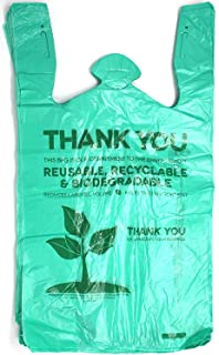Biodegradable Plastic T-Shirt Thank You Bags