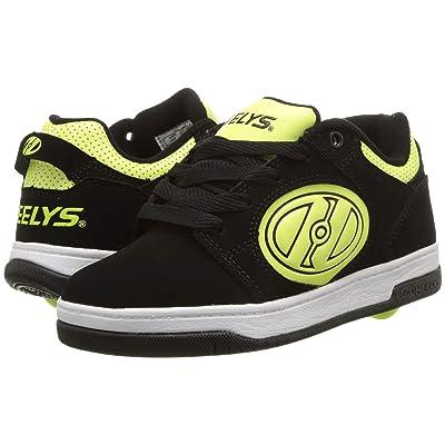 Heelys Voyager (Little Kid/Big Kid/Adult) (Black/Bright Yellow G.I.D) Boys Shoes