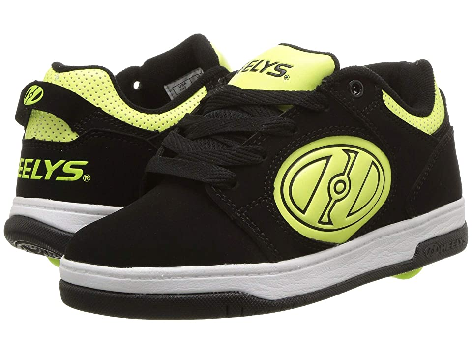 Heelys Voyager (Little Kid/Big Kid/Adult) (Black/Bright Yellow G.I.D) Boys Shoes