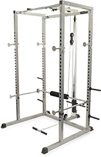 Valor Fitness BD-7 Power Rack w/LAT Pull Attachment and Other Bundle Options for a Complete Home Gym