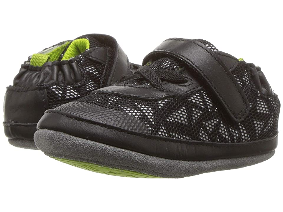 Robeez Jax Athletic Mini Shoez (Infant/Toddler) (Black) Boy
