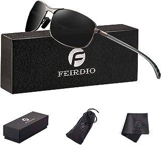 Rectangular Sport Polarized Sunglasses for Men - Feirdio...