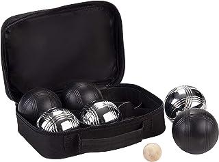 comprar comparacion weiblespiele 010207 - Juego de Bolas de Petanca (6 Unidades), Color Negro y Plateado