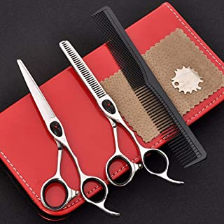 Hairdresser Scissors Set, Professional Hair Cutting Scissors Trim and Cut Thinning Scissors with Comb and Case for Salon Home