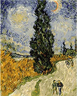 LICSE Painting Paint by Number Kit Van Gogh Wheat Field The Watchman