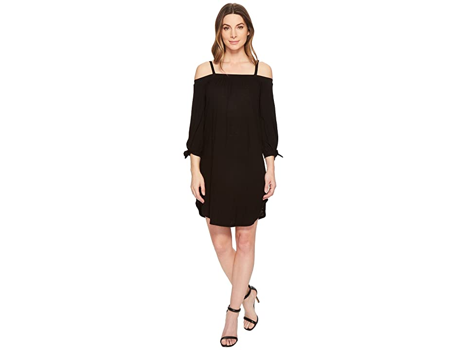 Three Dots Eco Knit Dress (Black) Women