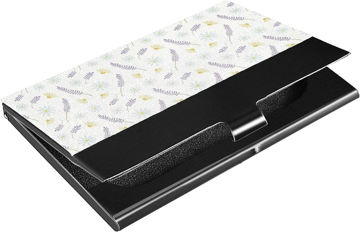 New Orleans Very popular! Mall OTVEE Daisies and Lavender Business Holder Wallet Stainless Card
