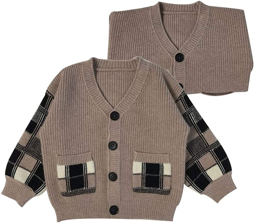 TheFound Newborn Infant Baby Jacksonville Mall Boys V-Neck Long New arrival Sleeve Cute Sweate
