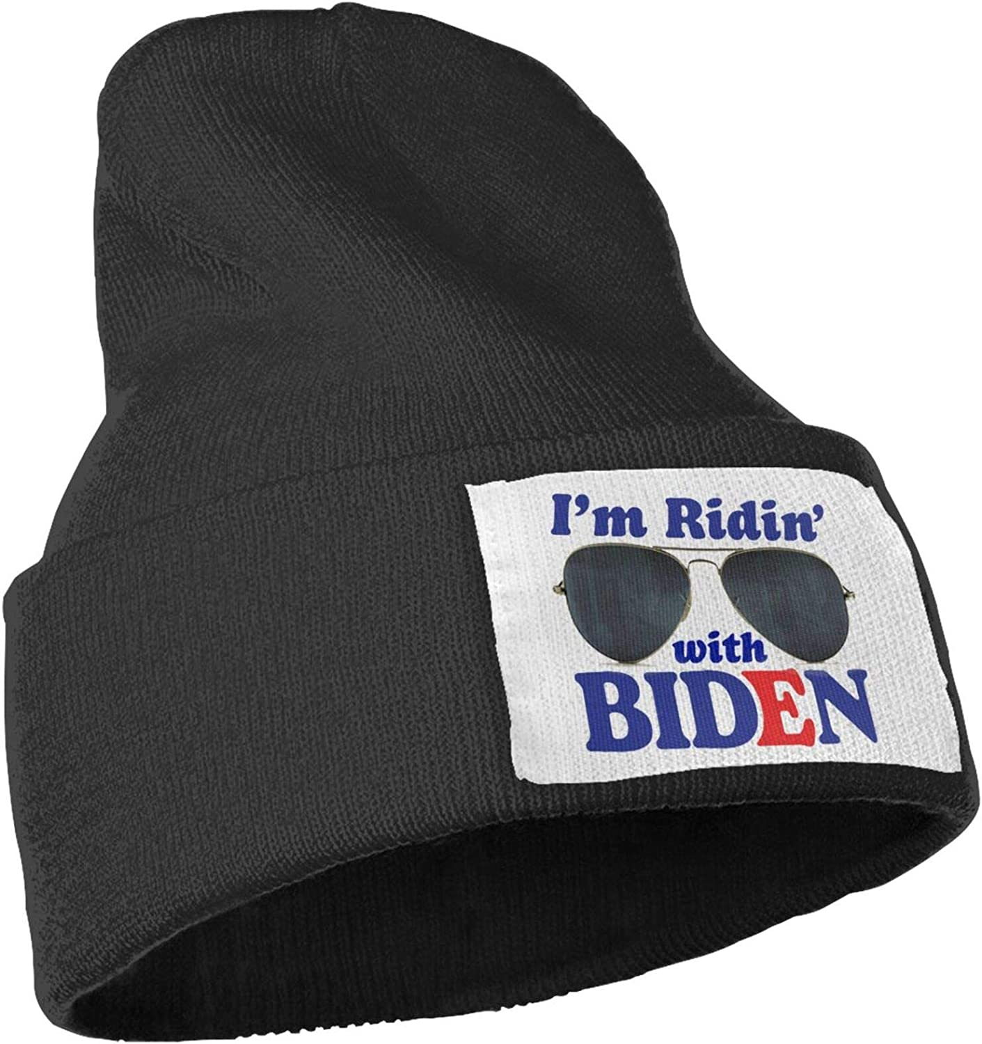 Beanies Im Riding with Biden Unisex Adult Thin Hats Acrylic Hat Cap Winter Outdoor Slouchy Warm Caps