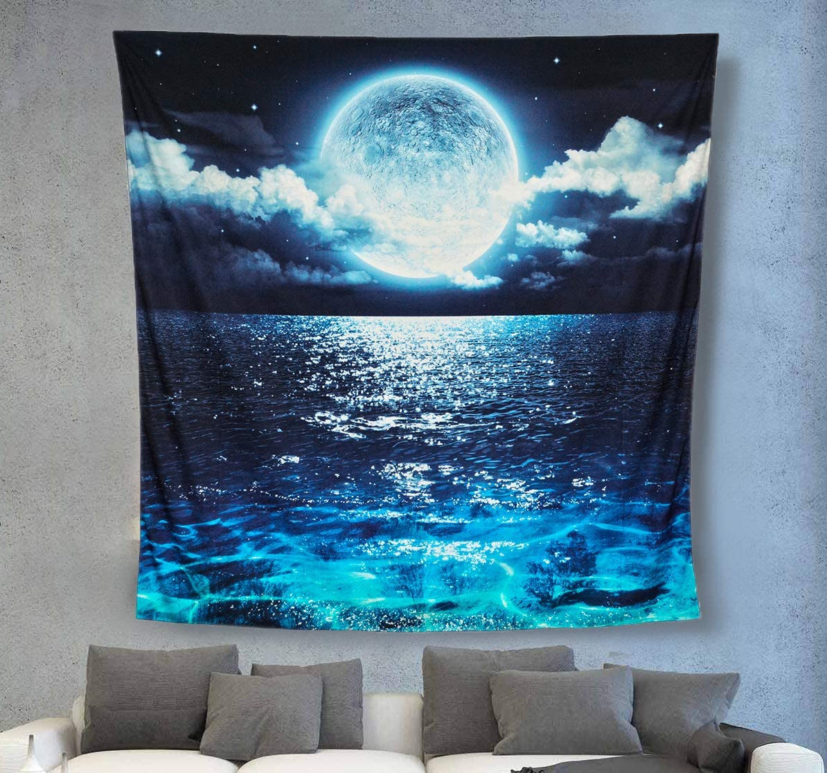 ACRAFT Wall Attention brand Tapestry Moon Ocean New York Mall Bedroom Hanging for Stars B