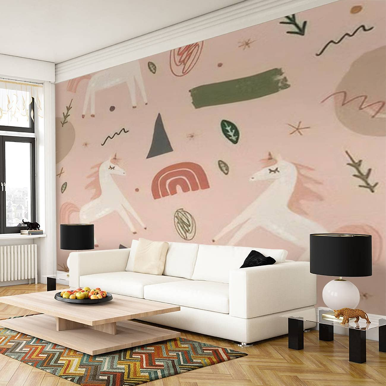 Self Adhesive safety Peel and NEW before selling ☆ Stick Wallpaper Wall PVC Mural Print Mode