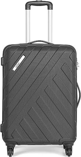 RAY Polycarbonate 67 cms Black Hardsided Medium Luggage RAY 67 4W Black