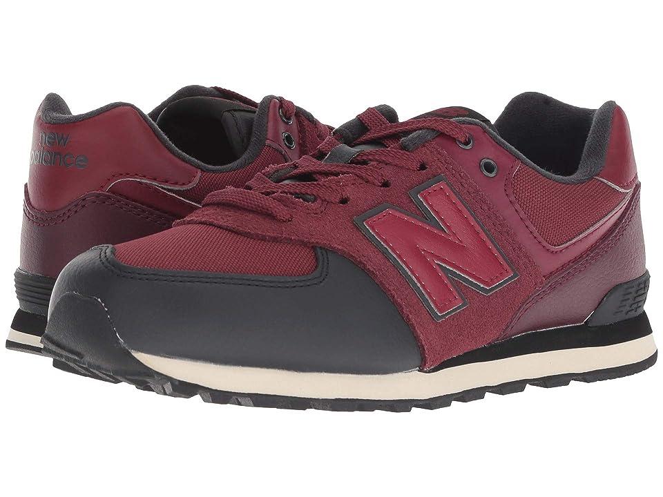 New Balance Kids GC574v1 (Big Kid) (NB Burgundy/Black) Boys Shoes