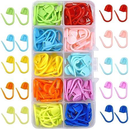NATUCE 120 Piezas Marcadores de Puntos Ganchillo, Crochet Marcadores de Plástico, 10 Colores Marcadores Ganchillo