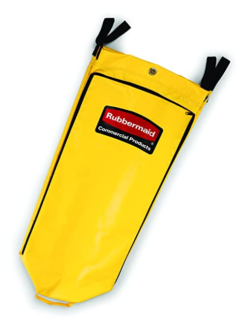 Milageto Waterproof Housekeeping Commercial Janitorial Cleaning Cart Bag Yellow 2pcs