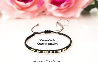 Custom Morse Code Bracelet, Morse Code Amulet. Personalized, Minimal Bracelet. Friendship, Minimal Bracelet, Wish Bracelet, Dainty Simple, Bridesmaid Gift, Flower Girl Gift, Hidden Message Bracelet