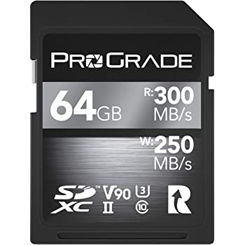 SD UHS-II 64GB Card V90 –Up to 250MB/s Write Speed and 300 MB/s Read Speed | for Professional Vloggers, Filmmakers, Photographers & Content Curators – by Prograde Digital