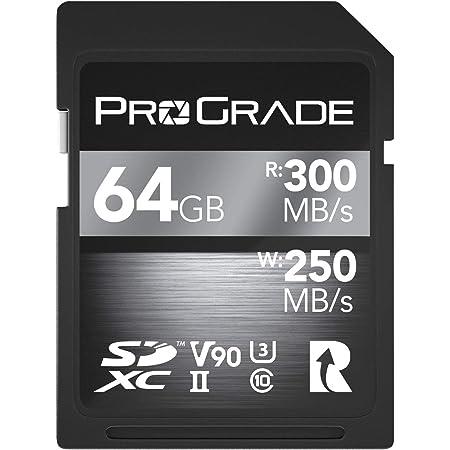 Prograde Digital (プログレードデジタル) SD UHS-II カード V90 - 最速の書き込み速度 毎秒250MB 読み込み速度 毎秒300MB | プロのビデオブログ作成者 映像作家 写真家 コンテンツキュレーター向け - ファームウェア更新付き