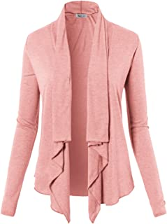 Womens Casual Loose Fit Open Front Cardigan Lightweight Draped - Sleeveless/Short Sleeve/Long Sleeve