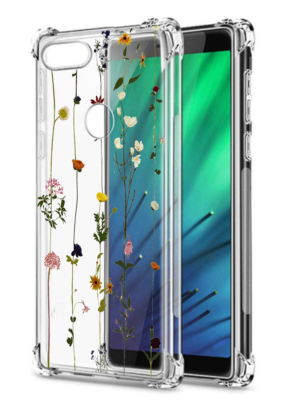 Oihxse Cristal Compatible con Honor Play Funda Transparente TPU Silicona Estuche Airbag Esquinas Anti-Choque Anti Rasguños Diseño Rosa Flower Caso (Flores A6): Amazon.es: Electrónica
