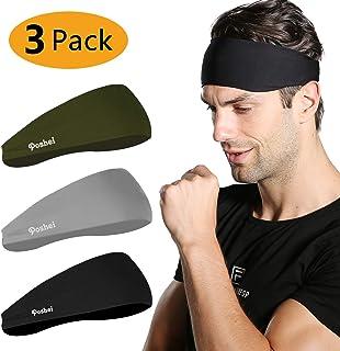 poshei Mens Headband, Mens Sweatband & Sports Headband...