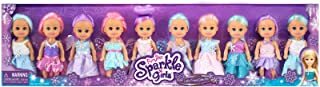 Funville Sparkle Girls Little Friends Collection, Mermaid and Fairy, 10pk