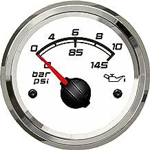KUS Marine Oil Pressure Gauge Boat Car RV Engine Outboard Electric Pressure Gauge 0-10Bar 52mm 12/24V White
