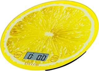 Taylor Precision Products Citrus Glass Kitchen Scale Yellow 3823LE