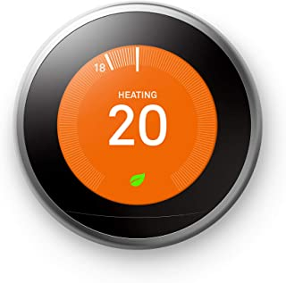 Google Nest Learning Thermostat 3rd Generation, Stainless Steel - Smart Thermostat - A Brighter Way To Save Energy