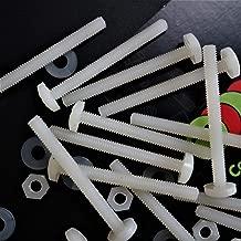 50 x Nylon Pan head, crosshead plastic machine screws, M4 x 40mm, Plastic Bolts, Nuts & Washers, 5/32