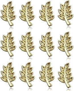 BOBIJOO Jewelry - Lotto di 12 Perni da 10mm Ramo di Acacia Simbolo della Massoneria, Pin Dorati finitura Oro