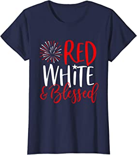 Red White & Blessed Shirt 4th of July Cute Patriotic America T-Shirt