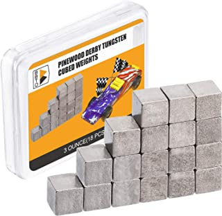 3 Ounce Tungsten Weights 1/4 Inch Car Cube Weights Incremental Derby Weight Compatible with Pinewood Car Derby Weights