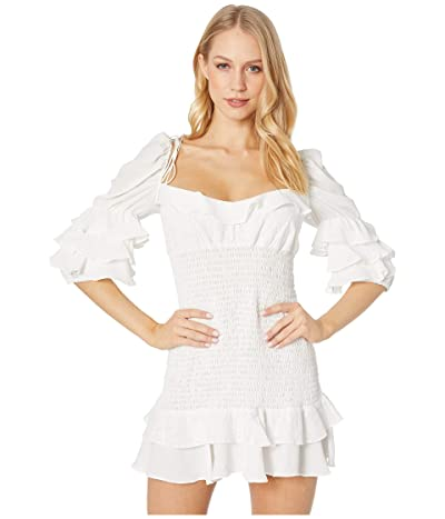 For Love and Lemons Ruffle Bora Bora Mini Dress (White) Women