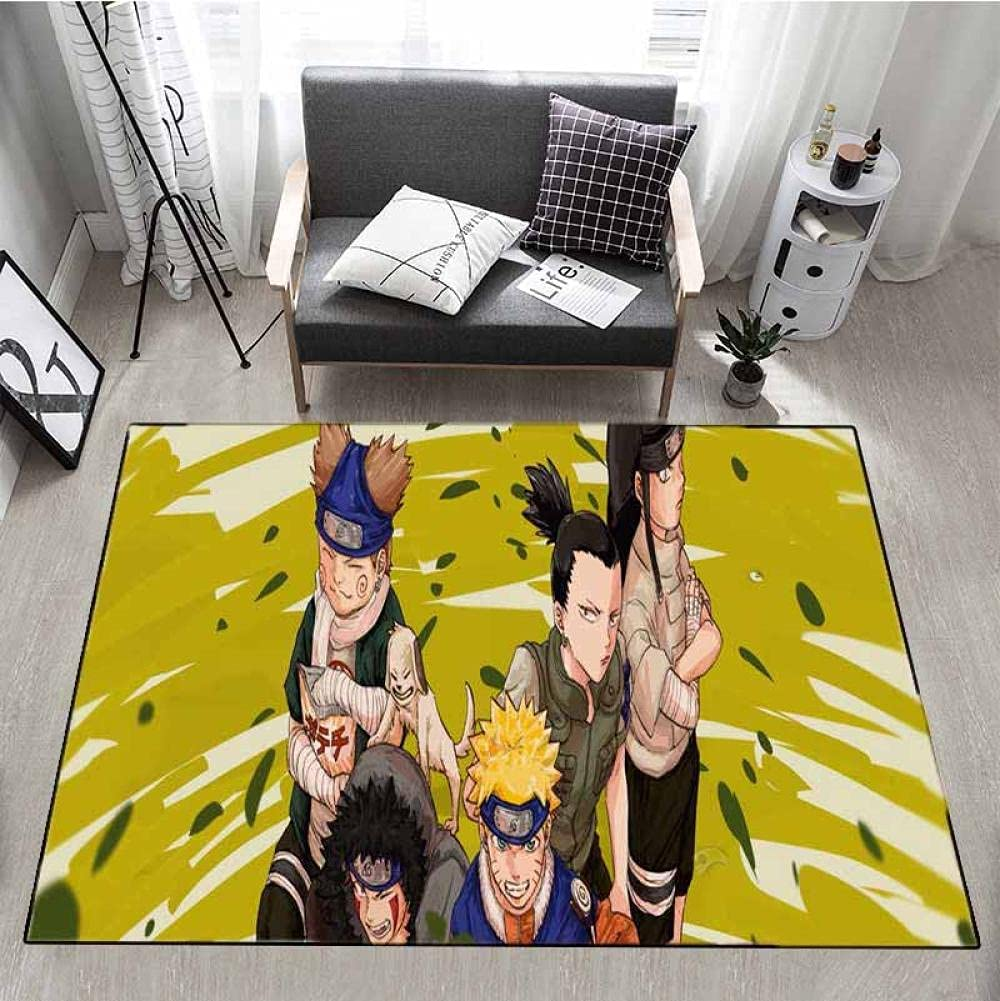 Popular Anime Naruto Opening large release Limited time trial price sale Uchiha Itachi Area Anti Stain Resi Slip Rug