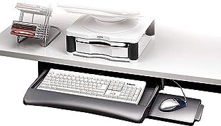 Fellowes 93804 - Bandeja para teclado con altura ajustable y bandeja para el ratón, color grafito