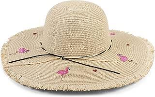 FAVIBES Fischer Eimer Hut Unisex Polyester Reversible Sonnenhut gedruckt Fischer packbar Sommer Reise Hut Mode Outdoor Cap Multicolor Pink Flamingos im Hof