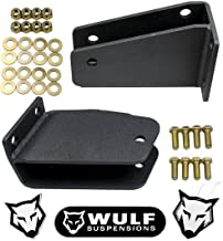 WULF Front Axle Pivot Drop Bracket Kit for 1980-1998 Ford F250 4WD (for 2-3