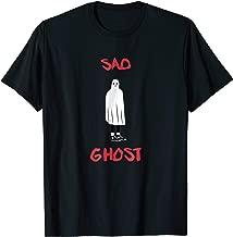 Funny Sad Ghost Halloween T-Shirt Gift Goth Girl Fashion Boy